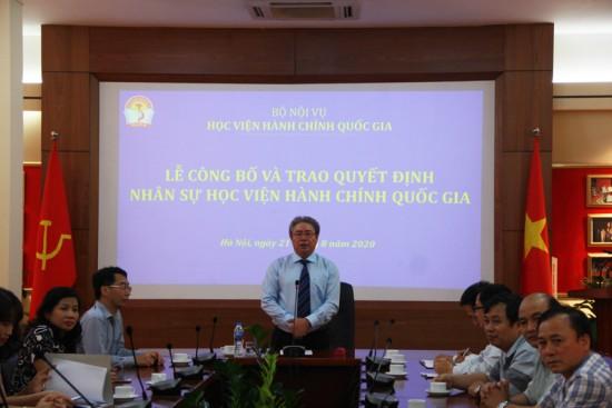 TS. Đặng Xuân Hoan, Bí thư Đảng ủy, Giám đốc Học viện phát biểu tại buổi Lễ
