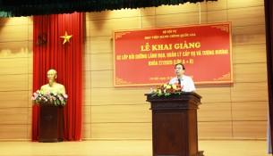 NGƯT. TS Vũ Thanh Xuân, Phó Giám đốc Học viện phát biểu tại Lễ khai giảng