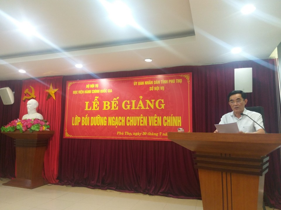 Đồng chí Lê Tiến Hưng - Phó Giám đốc phát biểu tại buổi Lễ