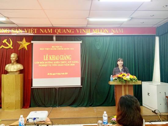 ThS. Lê Phương Thúy, Phó trưởng Ban Quản lý bồi dưỡng