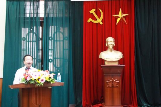 TS. Nguyễn Đăng Quế, Phó Giám đốc Học viện phát biểu tại Lễ bế giảng