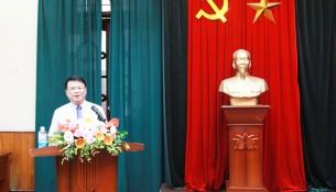 TS. Bùi Huy Tùng, Trưởng Ban Quản lý bồi dưỡng, Học viện Hành  chính Quốc gia phát biểu tai Lễ bế giảng