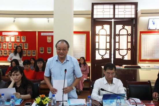PGS. TS. Nguyễn Toàn Thắng, Nguyên Viện trưởng Viện Văn hóa và Phát triển, Học  viện Chính trị Quốc gia Hồ Chí Minh phát biểu tại Hội thảo