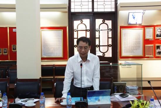 PGS. TS. Lương Thanh Cường, Phó Giám đốc Học viện phát biểu tại Hội thảo