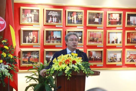 TS. Đặng Xuân Hoan, Giám đốc Học viện phát biểu chúc mừng 25 năm ngày thành lập Khoa Quản lý nhà nước về Xã hội