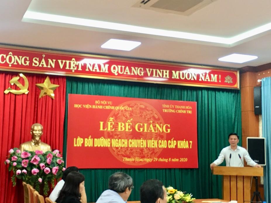 TS. Đỗ Trọng Hưng, Phó Bí thư Thường trực, Tỉnh ủy Thanh Hóa phát biểu tại buổi lễ