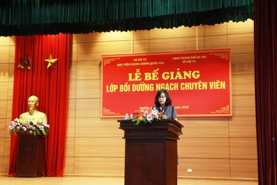 ThS. Vương Thanh Thủy, Ban Quản lý bồi dưỡng công bố Quyết định cấp chứng chỉ
