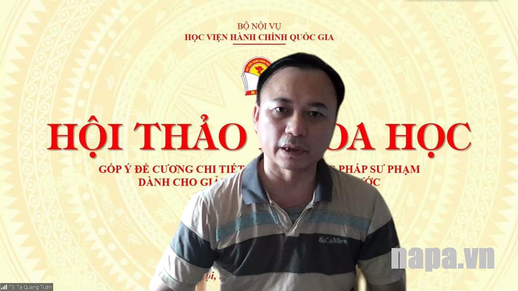 16. TS. Tạ Quang Tuấn