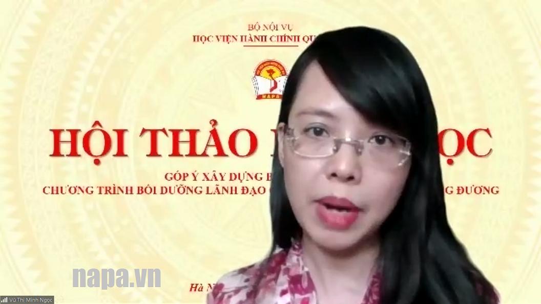2. TS. Vũ Thị Minh Ngọc NNPL