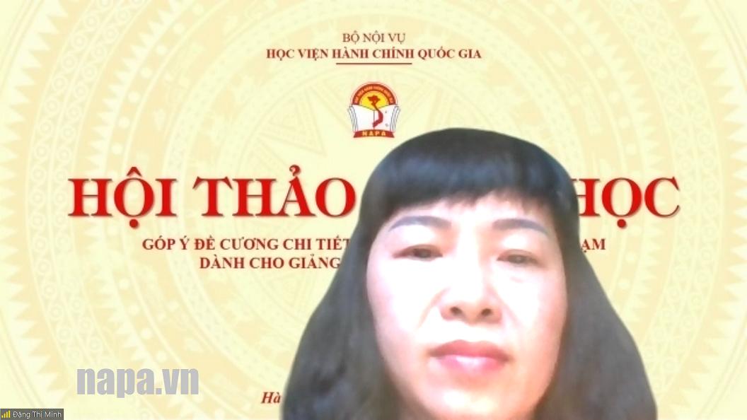 3. TS. Đặng Thị Minh Khoa XH