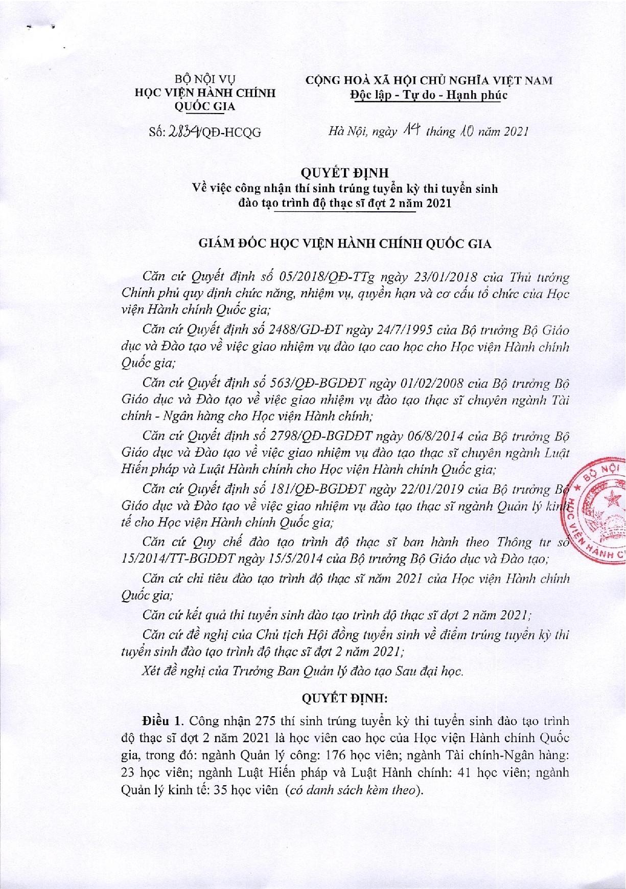 Quyết định về việc công nhận thí sinh TT đợt 2.2021_001