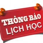 Lịch học kỳ 1 năm học 2017-2018 các lớp Đại học chính quy cơ sở TP. Hồ Chí Minh