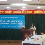Học viện Hành chính Quốc gia cơ sở TP. Hồ Chí Minh tổ chức các Hội đồng đánh giá luận văn Thạc sỹ chuyên ngành Quản lý công cho học viên các lớp Cao học Khóa 20