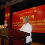 Đảng ủy Bộ Nội vụ tổ chức Hội nghị học tập, quán triệt và triển khai thực hiện Nghị quyết Hội nghị Trung ương 6 (khóa XII) của Đảng tại Cơ sở Học viện TP. Hồ Chí Minh