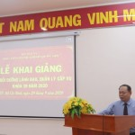 Khai giảng Lớp Bồi dưỡng lãnh đạo, quản lý cấp vụ và tương đương  khóa 39/2020 tại Phân viện Học viện Hành chính Quốc gia tại Thành phố Hồ Chí Minh