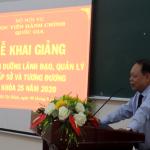Khai giảng Lớp bồi dưỡng lãnh đạo, quản lý cấp Sở và tương tương khóa 25/2020 tại Phân viện Học viện hành chính Quốc gia tại Thành phố Hồ Chí Minh