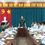 Đoàn công tác Quân khu 7 và Bộ Tư lệnh TP. Hồ Chí Minh làm việc với Học viện Hành chính Quốc gia cơ sở TP. Hồ Chí Minh về công tác giáo dục an ninh, quốc phòng