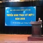 Lễ khai mạc và kỳ thi tuyển sinh Thạc sỹ đợt 1 năm 2016 tại Học viện Hành chính Quốc gia cơ sở TP. Hồ Chí Minh