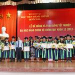 Lễ bế giảng và trao bằng tốt nghiệp cho sinh viên Đại học Hành chính hệ chính quy khóa 13 (2012-2016) tại Học viện Hành chính Quốc gia Cơ sở TP. Hồ Chí Minh