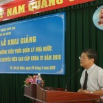 Khai giảng lớp Bồi dưỡng Kiến thức về Quản lý Nhà nước chương trình Chuyên viên cao cấp khoá IV/2015 tại Học viện Hành chính Quốc gia Cơ sở Tp. Hồ Chí Minh