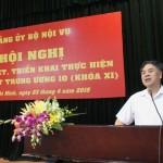 Hội nghị quán triệt, triển khai thực hiện Nghị quyết Trung ương khóa 10 (KHÓA XI)