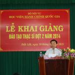 Phân viện khu vực Tây nguyên tổ chức khai giảng các lớp đào tạo Thạc sĩ đợt 2 năm 2014