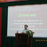 Phân viện Khu vực Tây Nguyên tổ chức Lễ bảo vệ luận văn thạc sĩ chuyên ngành Tài chính - Ngân hàng niên khóa 2013 - 2015.