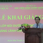 Lễ khai giảng lớp Bồi dưỡng năng lực, kỹ năng lãnh đạo, quản lý cấp sở tại Phân viện khu vực Tây Nguyên