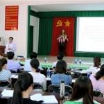 Viên chức, người lao động Phân viện khu vực Tây Nguyên tham gia học tập quán triệt các Nghị quyết Hội nghị lần thứ 5 Ban Chấp hành Trung ương Đảng khóa XII