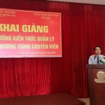 Khai giảng lớp bồi dưỡng ngạch chuyên viên tổ chức tại Sở Y tế tỉnh Kon Tum năm 2018