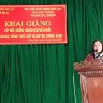 Khai giảng Lớp bồi dưỡng ngạch chuyên viên cho cán bộ công chức cấp xã tại huyện Krông Năng  tỉnh Đắk Lắk năm 2018