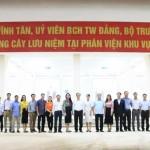 Bộ trưởng Bộ Nội vụ Lê Vĩnh Tân thăm và trồng cây lưu niệm tại Phân viện Học viện Hành chính Quốc gia khu vực Tây Nguyên