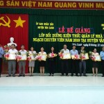 Bế giảng lớp Bồi dưỡng kiến thức quản lý nhà nước ngạch Chuyên viên năm 2018 tại huyện Vân Canh, tỉnh Bình Định