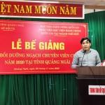 Bế giảng lớp Bồi dưỡng ngạch Chuyên viên chính năm 2020 tại tỉnh Quảng Ngãi