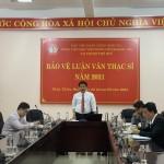 Phân viện Học viện Hành chính Quốc gia tại thành phố Huế tổ chức bảo vệ luận văn Thạc sĩ đợt I năm 2021