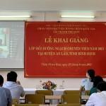 Khai giảng lớp Bồi dưỡng ngạch chuyên viên năm 2021 tại huyện An Lão, tỉnh Bình Định
