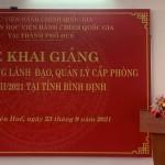 Khai giảng lớp Bồi dưỡng lãnh đạo, quản lý cấp phòng khóa 2/2021 tại tỉnh Bình Định