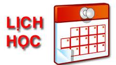 Lịch học bù khóa 13 (kỳ 1 năm học 2014-2015)
