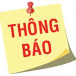 Thông báo số 106/QLBD-QLĐT&PTNLHC về lịch thi tốt nghiệp đối với thí sinh chính quy Khóa 16 tại Hà Nội